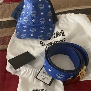 Mcm hat and belt